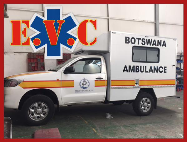 4 x 4 Ambulances ready for delivery to Botswana MOH.
