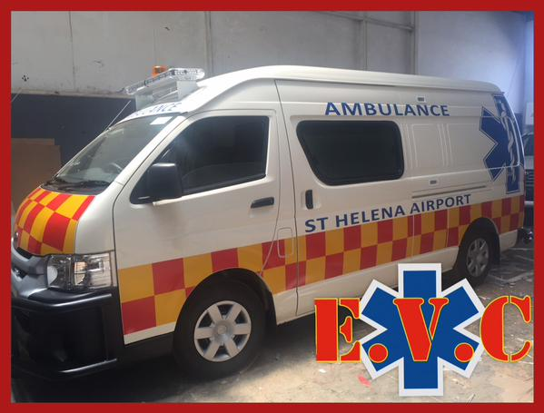 Quantum Ambulance ready for delivery to St Helena Airport