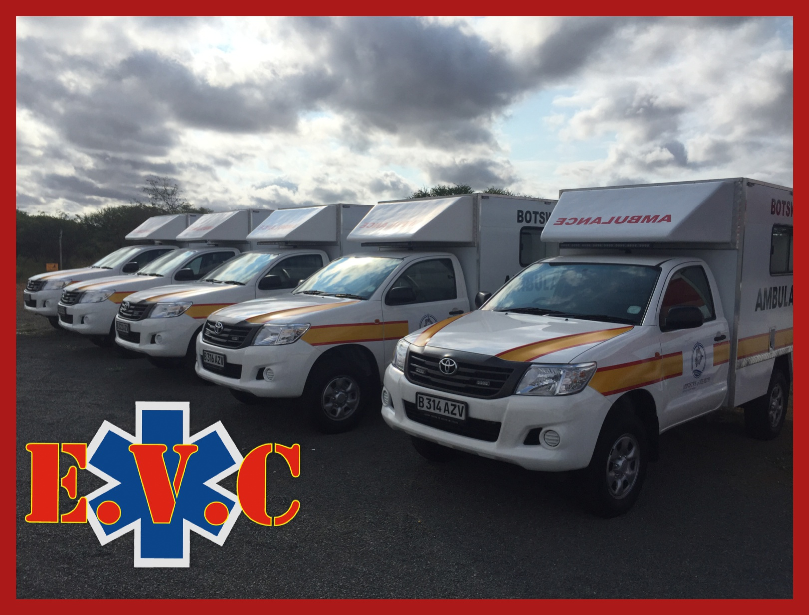 25 Box Body Ambulances being delivered to Botswana MOH