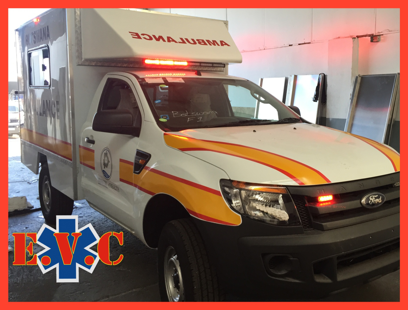 Ford 4 x 4 Ambulance rolling out.