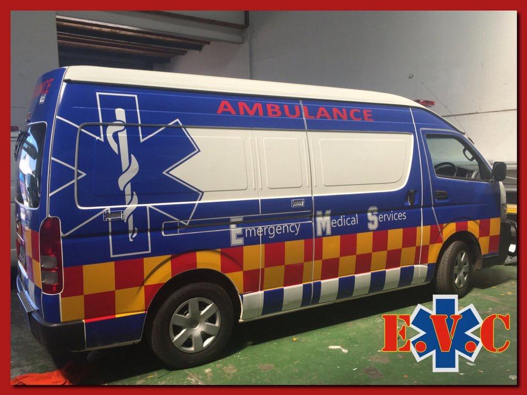 Toyota Quantum  – Semi wrapped Ambulance
