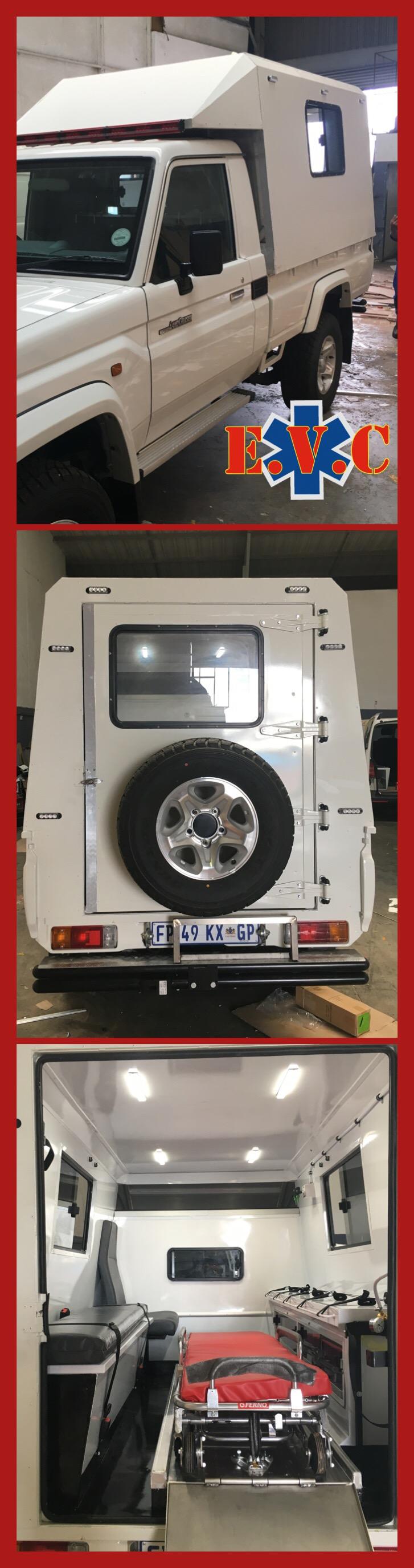 Aluminium Canopy Style Ambulance