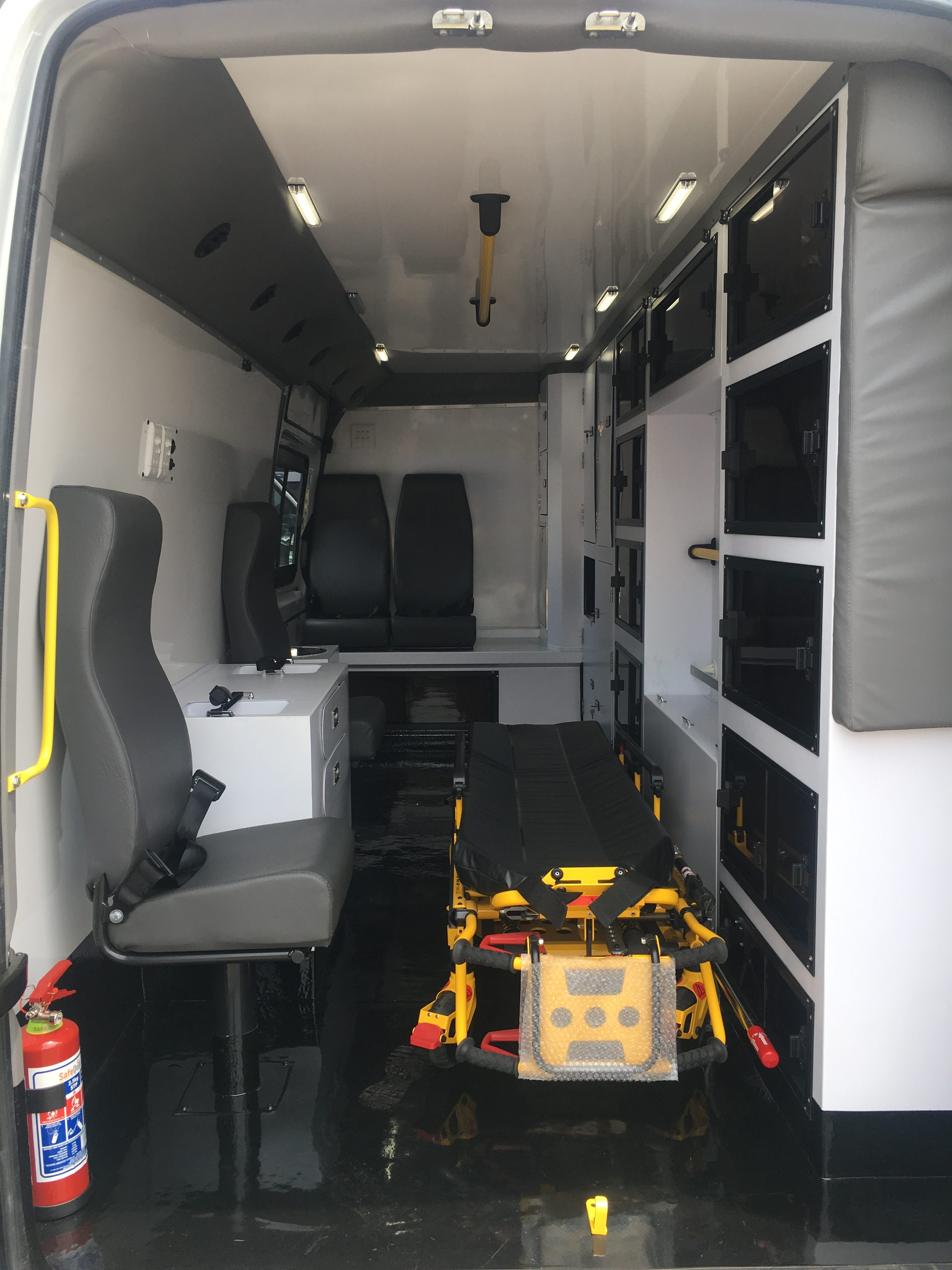Specialised ICU ambulance on Mercedes Sprinter